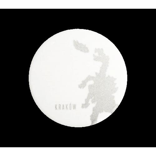 magnes okrągły 38mm biały smok