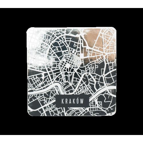 podkładki białe mapa 2 sztuki