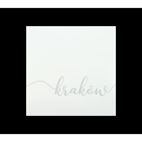 naklejka napis kraków biała
