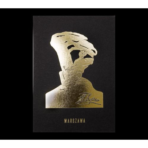 pocztówka czarna chopin