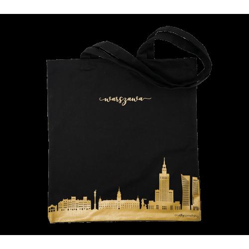 torba czarna skyline warszawy