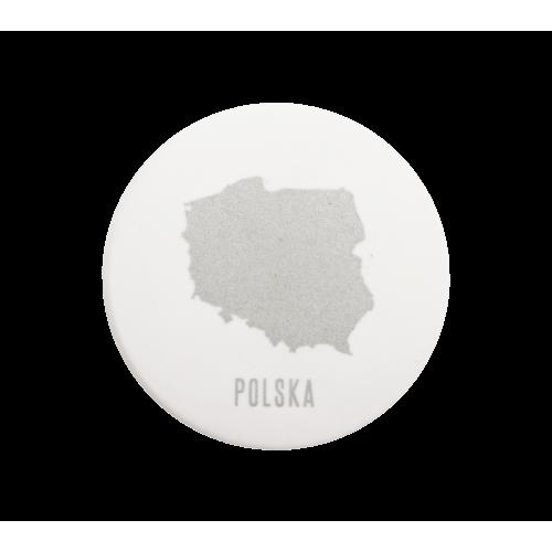 magnes okrągły mapa polski...