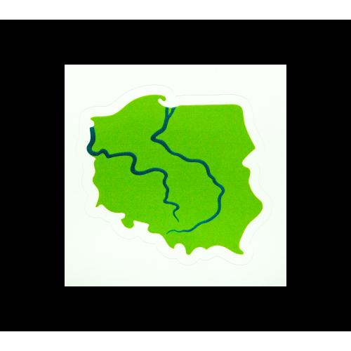 naklejka bajkowa mapa polski