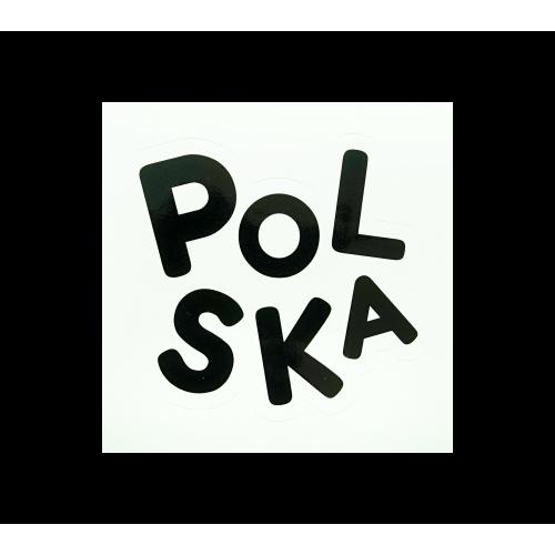 naklejka bajkowa napis polska