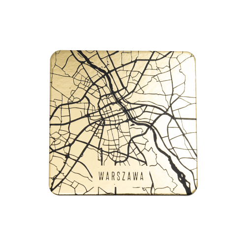 podkładki czarne mapa 2 sztuki