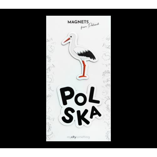zestaw 2 magnesów polski...