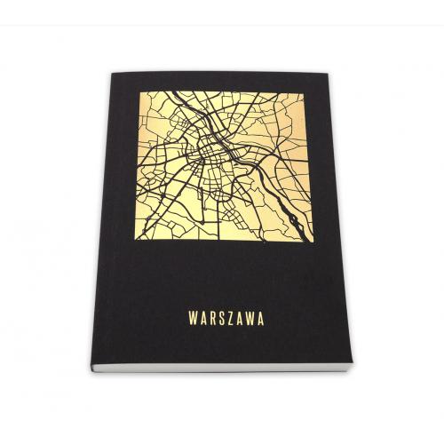 notatnik a6 mapa warszawy