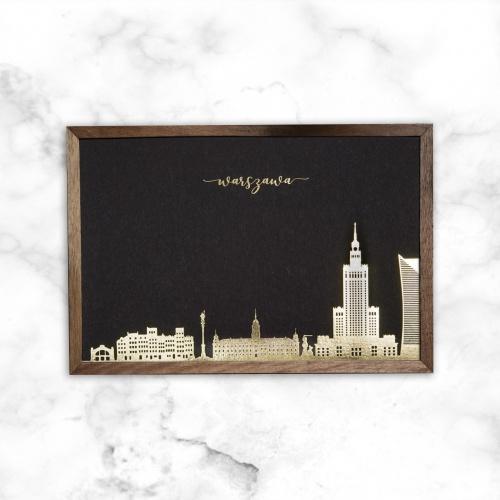 pocztówka czarna skyline...